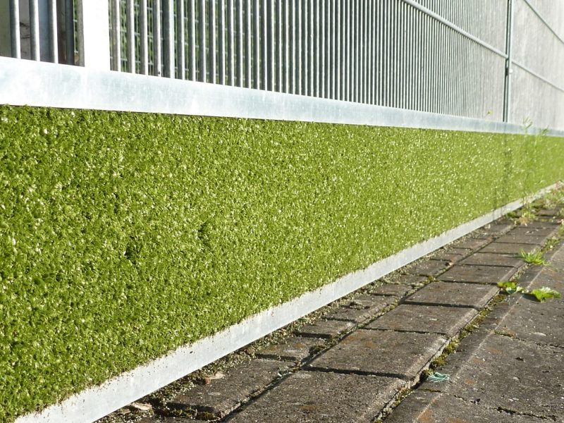 Rebound protection board made of aluminum / artificial turf from artec Sportgeräte