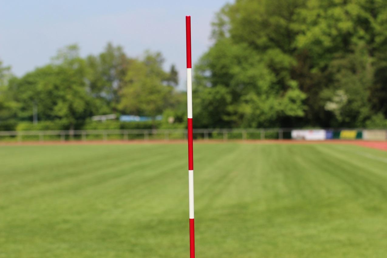 Volleyball-Antennen, einteilig, Farbe: rot-weiß, mit DVV-Prüfzeichen