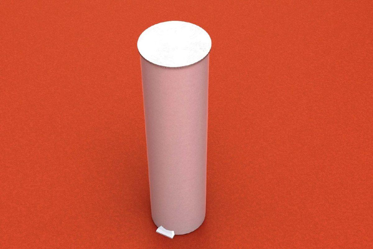 Bodenhülse Standard aus Aluminium für Tennispfosten, Rundprofil: 83 mm von artec