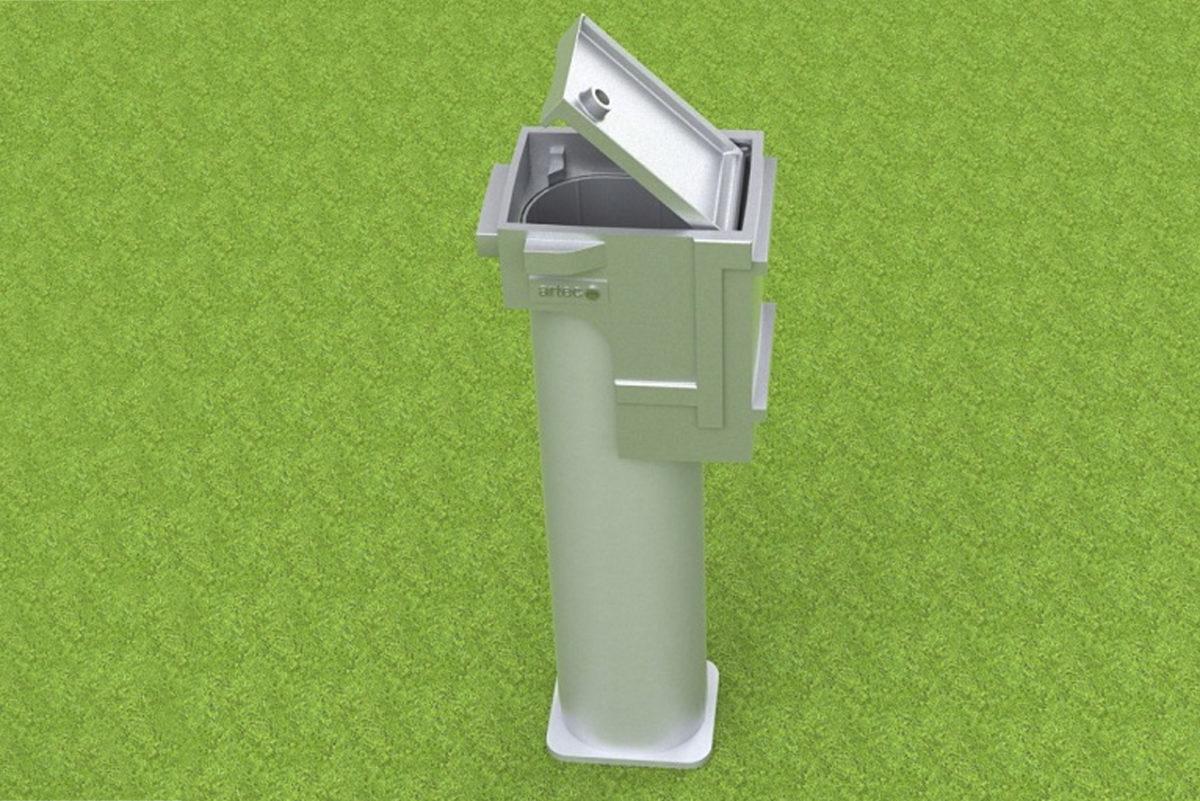Bodenhülse Spezial aus Aluminium für Faustball Pfosten, beschichtbar, Profil: 100 x 120 mm von artec