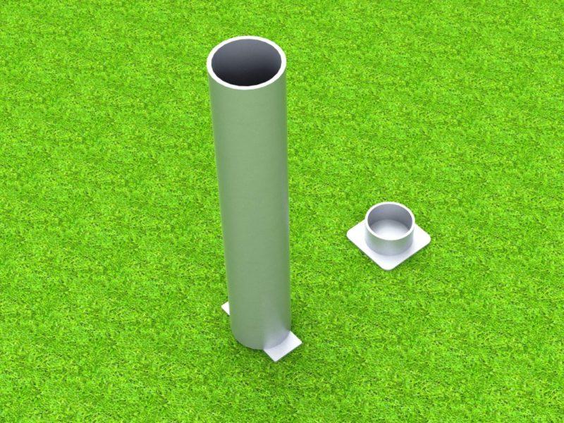 Standardhülse für Volleyballpfosten, 100 x 120 mm