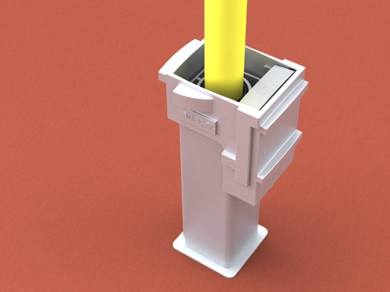 Ground socket special for corner flags and tension rods from artec Sportgeräte