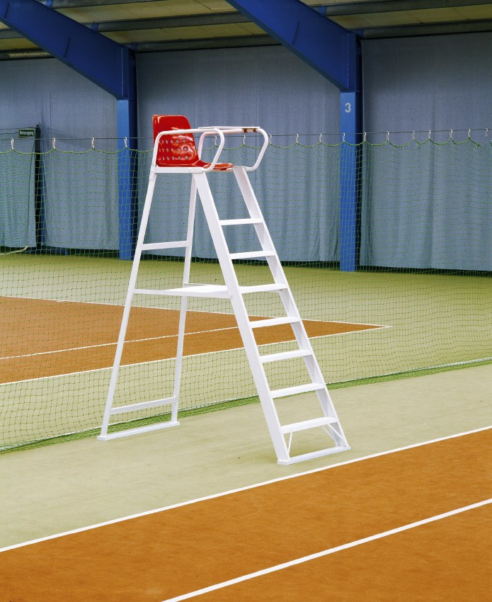 """Weißer Tennis-Schiedsrichterstuhl """"S-Line"""" aus Aluminium"""