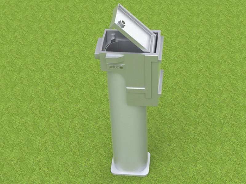 Ground socket special for football goals, coatable