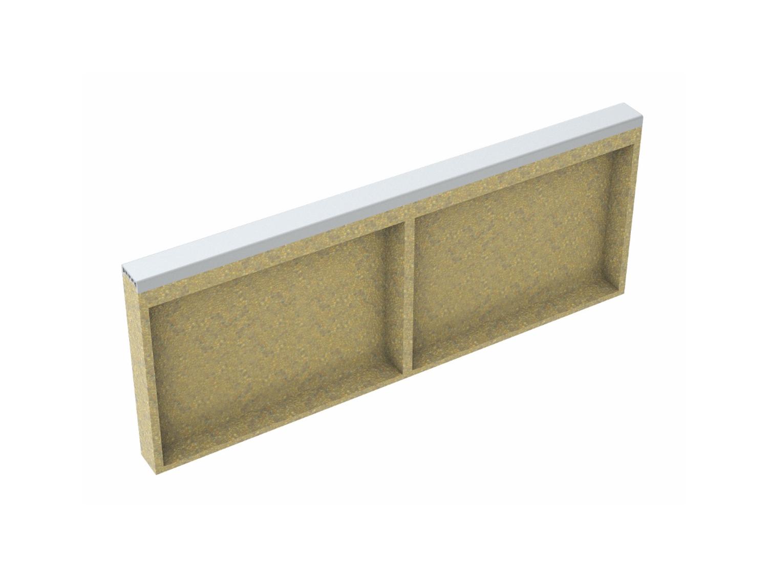 Soft curb made of polymer concrete white