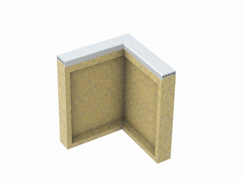 Soft curb elbow made of polymer concrete