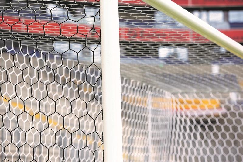 Kameraoptimiertes Fußballtornetz