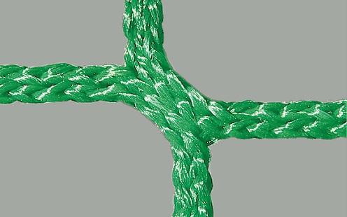 Anti-hooligan soccer goal net in green