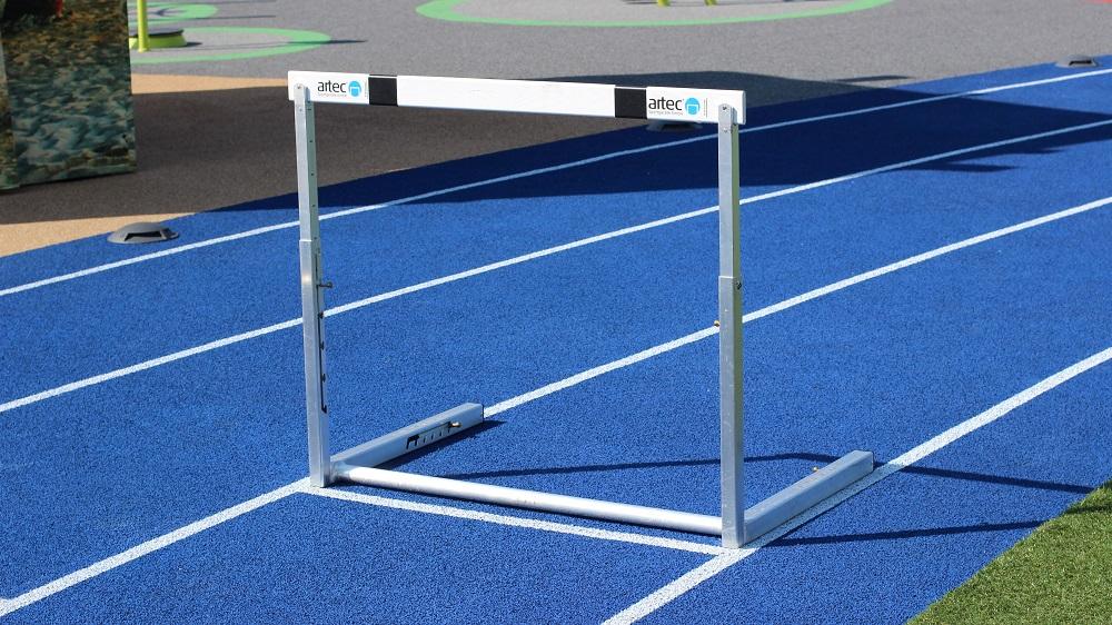 Hürden für Hürdenlauf Leichtathletik