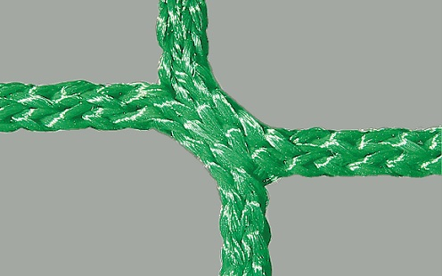 Net for soccer goals in green, honeycomb meshes